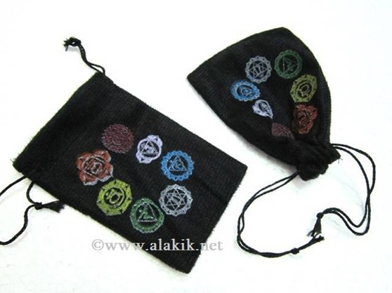 Picture of Colourful Chakra Symbol pouches