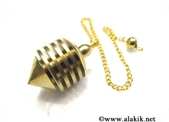 Picture of Golden Metal Pendulum vertical hard coil