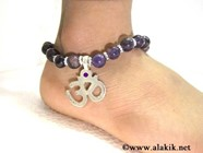 Picture of Amethyst Anklet with OM