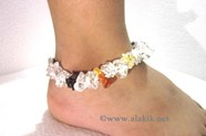 Picture of Crystal Quartz Chakra Chips Anklet