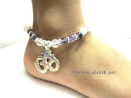 Picture of RAC Anklet with hanging Om charm