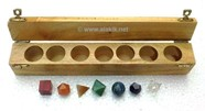Picture of Seven chakra geometry set with box