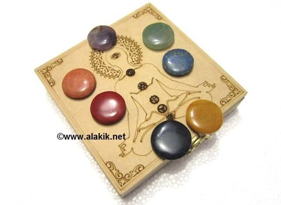 Picture of Chakra Buddha Itched Box with Chakra Disc set