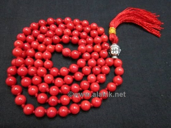 Picture of Red Coral Netted Buddha Jap Mala