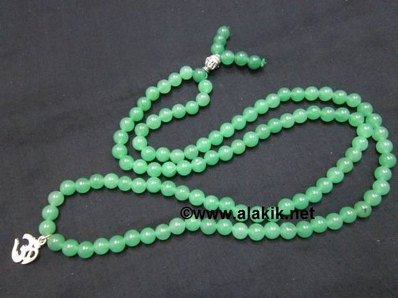 Picture of Green Onyx Buddha Jap mala with OM