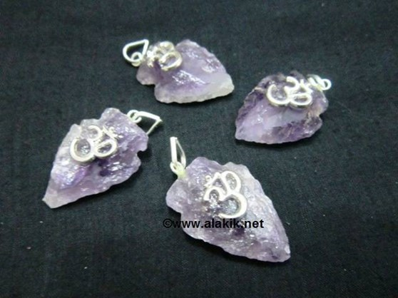 Picture of Amethyst Arrowhead Pendant with OM