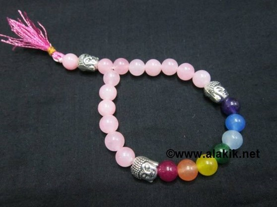 Picture of Rose Quartz Chakra 3Buddha Power Braclet
