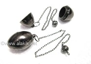 Picture of Egg Black Metal Wiccan Pendulum