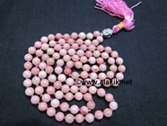 Picture of Rhodochrosite Netted Buddha Japa Mala