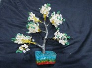 Picture of Crystal Quartz Green Jade 500 Beads Tree with Orgone Base