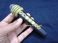 Picture of Black Jet Agate Tibetan Chakra Massage Wand