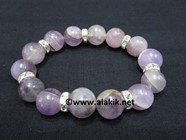 Picture of Amethyst 10mm Bracelet with Diamond Ring