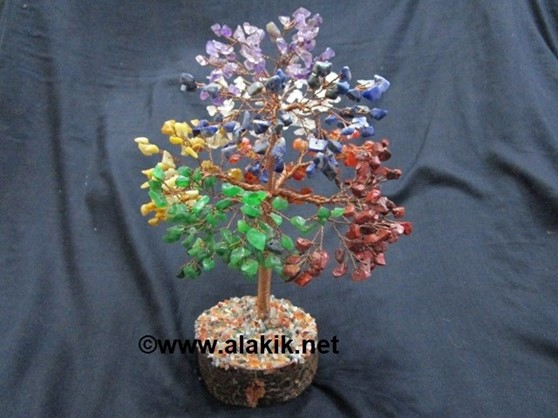 Picture of Chakra 500 beads Silver Tree with Copper Wire