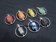 Picture of Chakra Herkimer Pendant Set