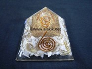 Picture of Scolecite With Mother of PEARL Orgone Pyramid