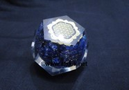 Picture of Sodalite Orgone Dodecahedron with Chakra Charm