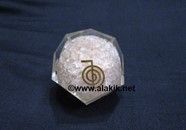 Picture of Rose Quartz Orgone Dodecahedron with Chokoree