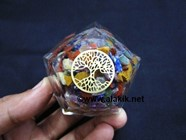 Picture of Chakra Multi Orgone Dodecahedron with Tree of Life