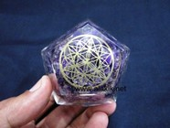 Picture of Amethyst Orgone Dodecahedron with Charm