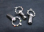 Picture of Chakra Goddess Black Tourmaline Metal Pendants