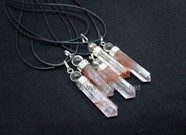 Picture of Lithium Quartz 2pc Cap Pendants with Cord