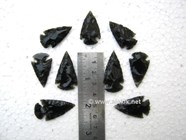 Picture of 1 inch Black Obsidian Arrowhead