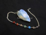 Picture of Raw Opalite Pendulums with Chakra Chain