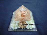 Picture of Serpentine Orgone Pyramid with Crystal Point