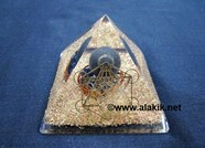 Picture of Shungite Orgone Pyramids With Ball & Chakra Mandala